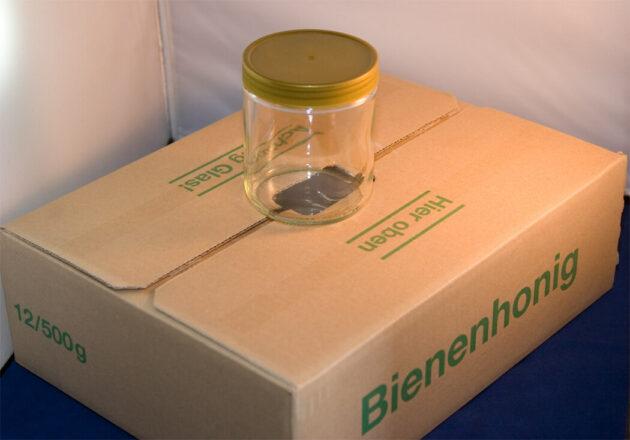 Rundglas 500 g, 12 Stück