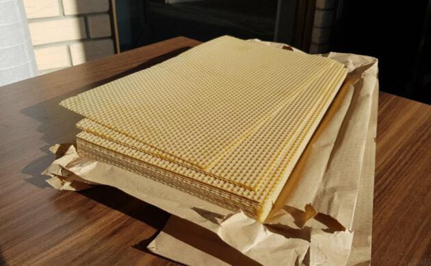 Mittelwände aus Bienenwachs